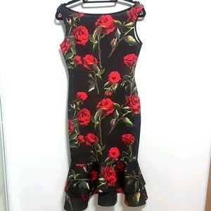 YaYa & Co. Floral Sleeveless Dress | L